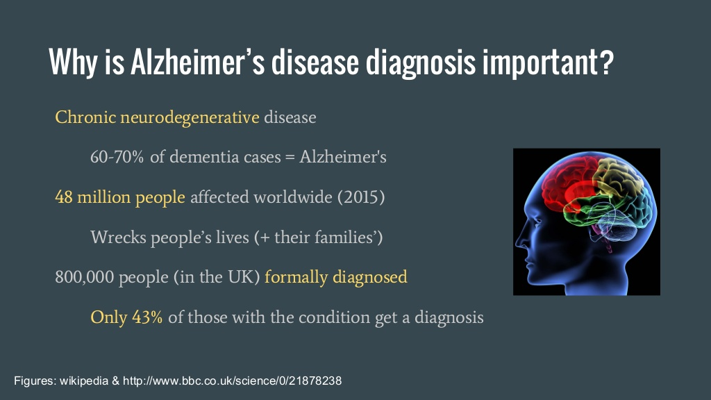 Why is Alzheeimer's disease diagnosis important?