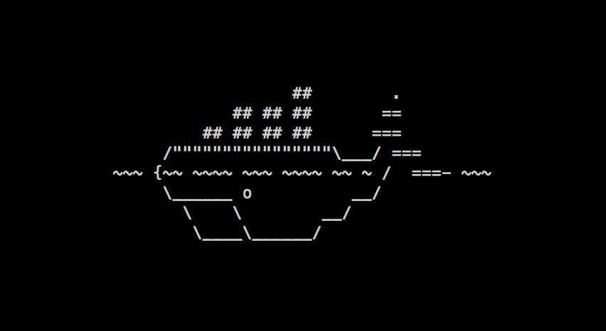 The ASCII Docker whale
